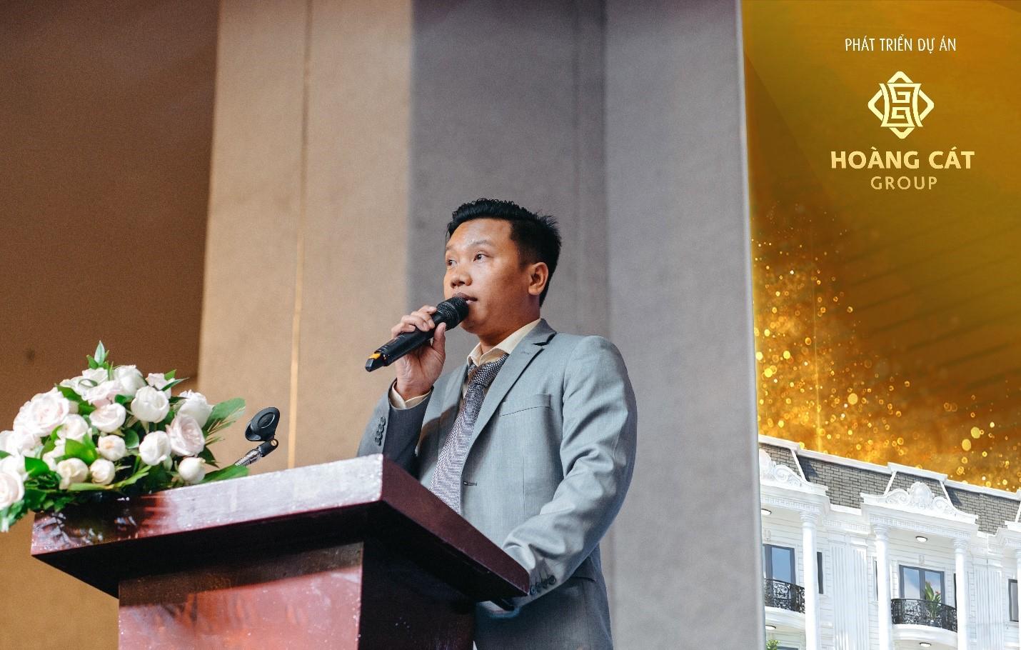 Ông Lê Công Hoàng – Chủ tịch HĐQT kiêm TGĐ tập đoàn phát biểu khai mạc